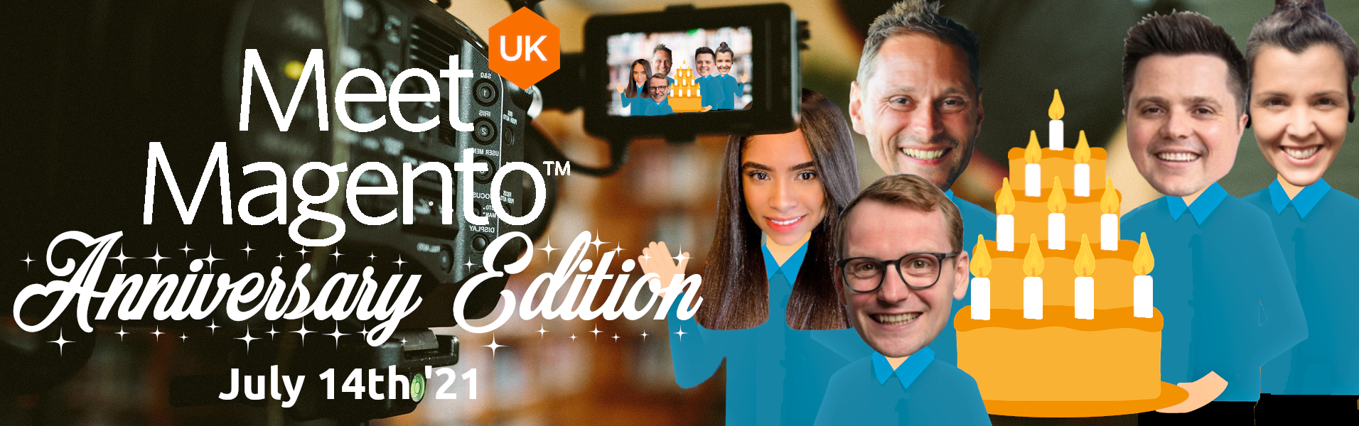 Meet Magento UK '21 - Tchaysllaney Rayenelly, Anton Evers, Domm Holland,  Michael Schirrmacher, Sandra Gonzalez Mangana.