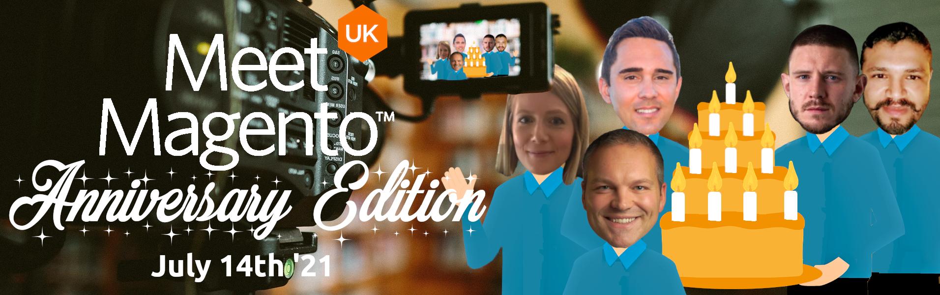 Meet Magento UK '21 - Mark Shust, Paul Cartwright, Tiffany Mills, Matt Serwin & Vikrant Shukla.