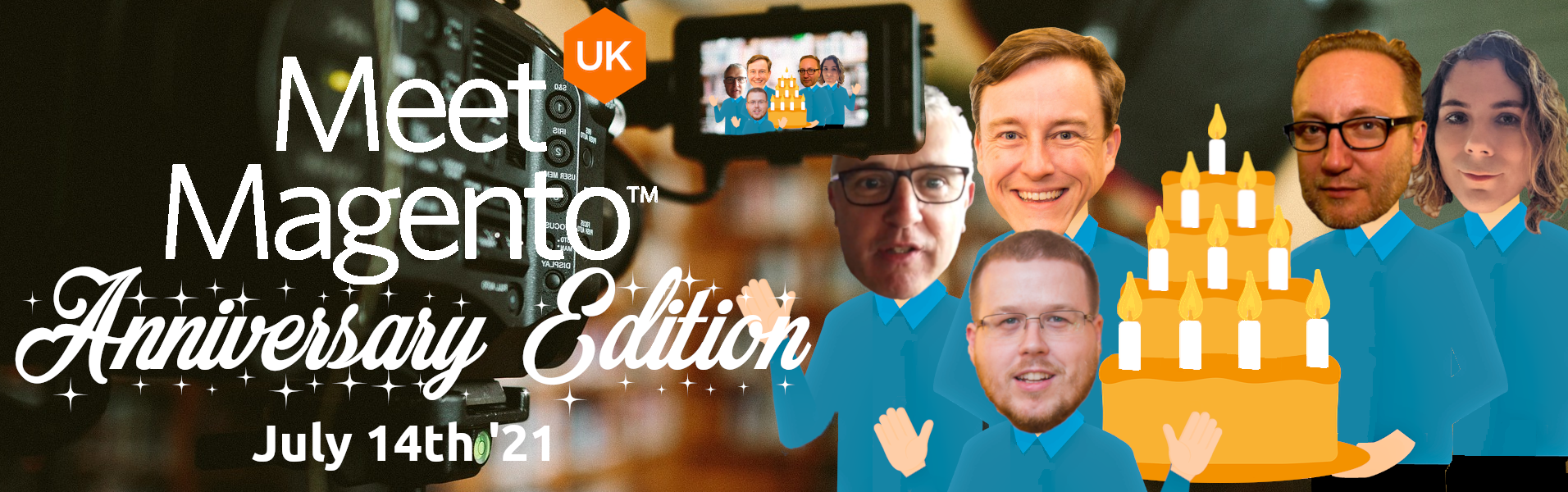 Meet Magento UK '21 - Eric Erway, Penny McLachlan, Paul Skeldon, Jamie Huskisson & Brian Green.